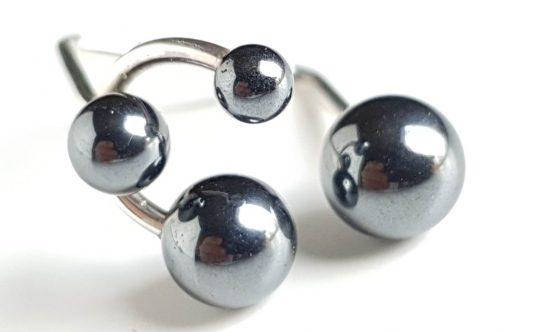 ring-bubble-4-hematiteØ8-Ø7-Ø5,5-Ø4-vue1